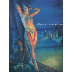 American art - bellydancer...