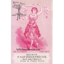 Odalisque - tradecard 1870