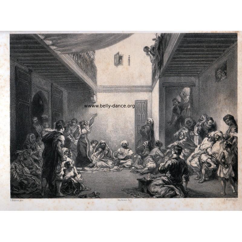 Dancer at a Jewish wedding - Eugène Delacroix